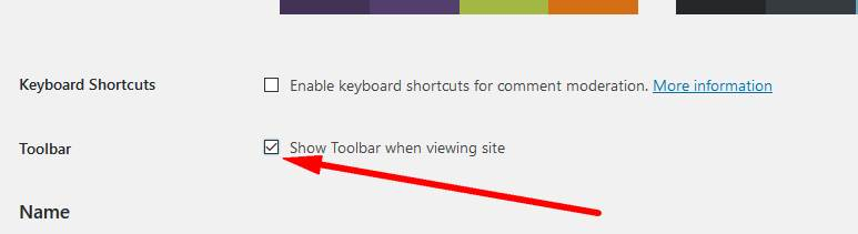 Wordpress toolbar is not showing